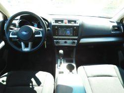 red Subaru inside